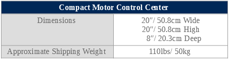 Compact motor control center specifications