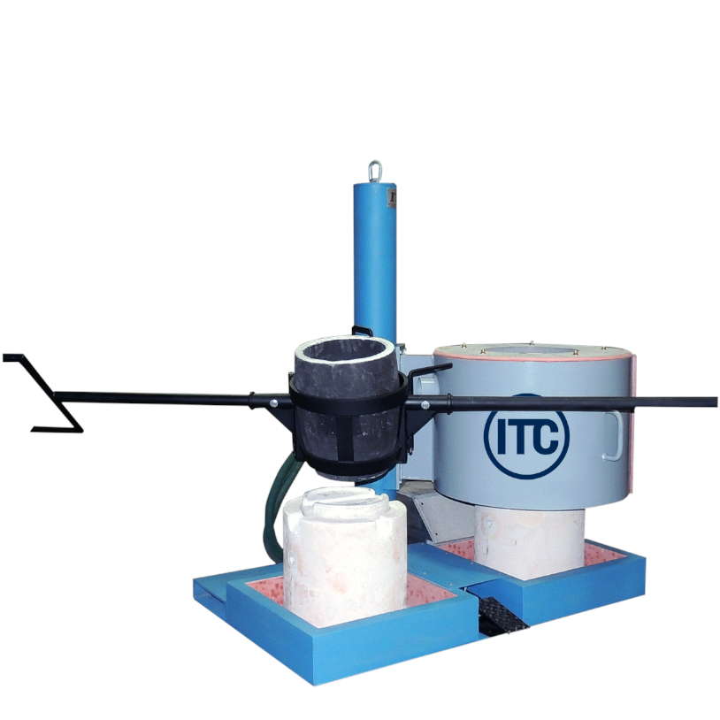 one-man lift and tilt melting furnace