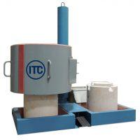 Induction melting furnace for non-ferrous alloys
