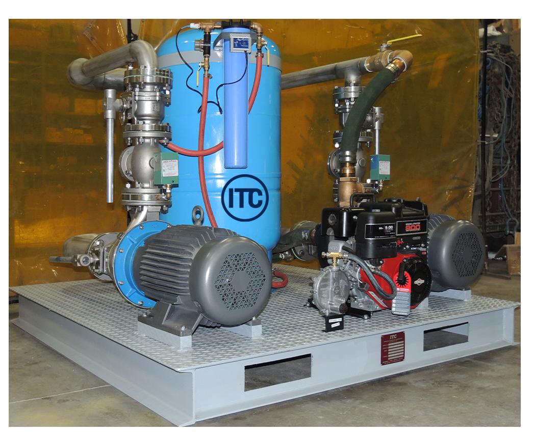Dual water pump