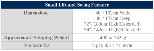 small lift and swing specifications