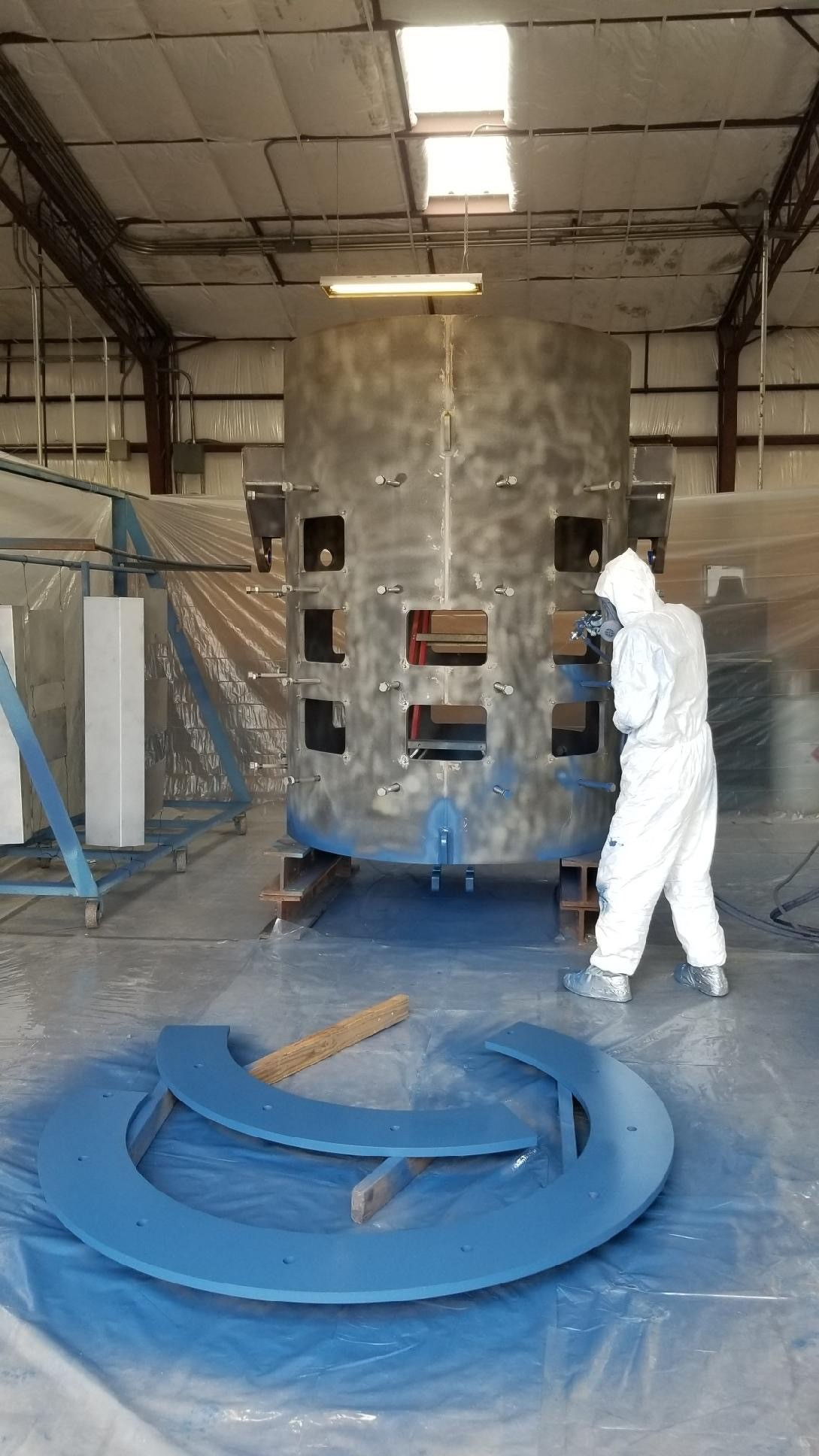 painting steel shell furnace