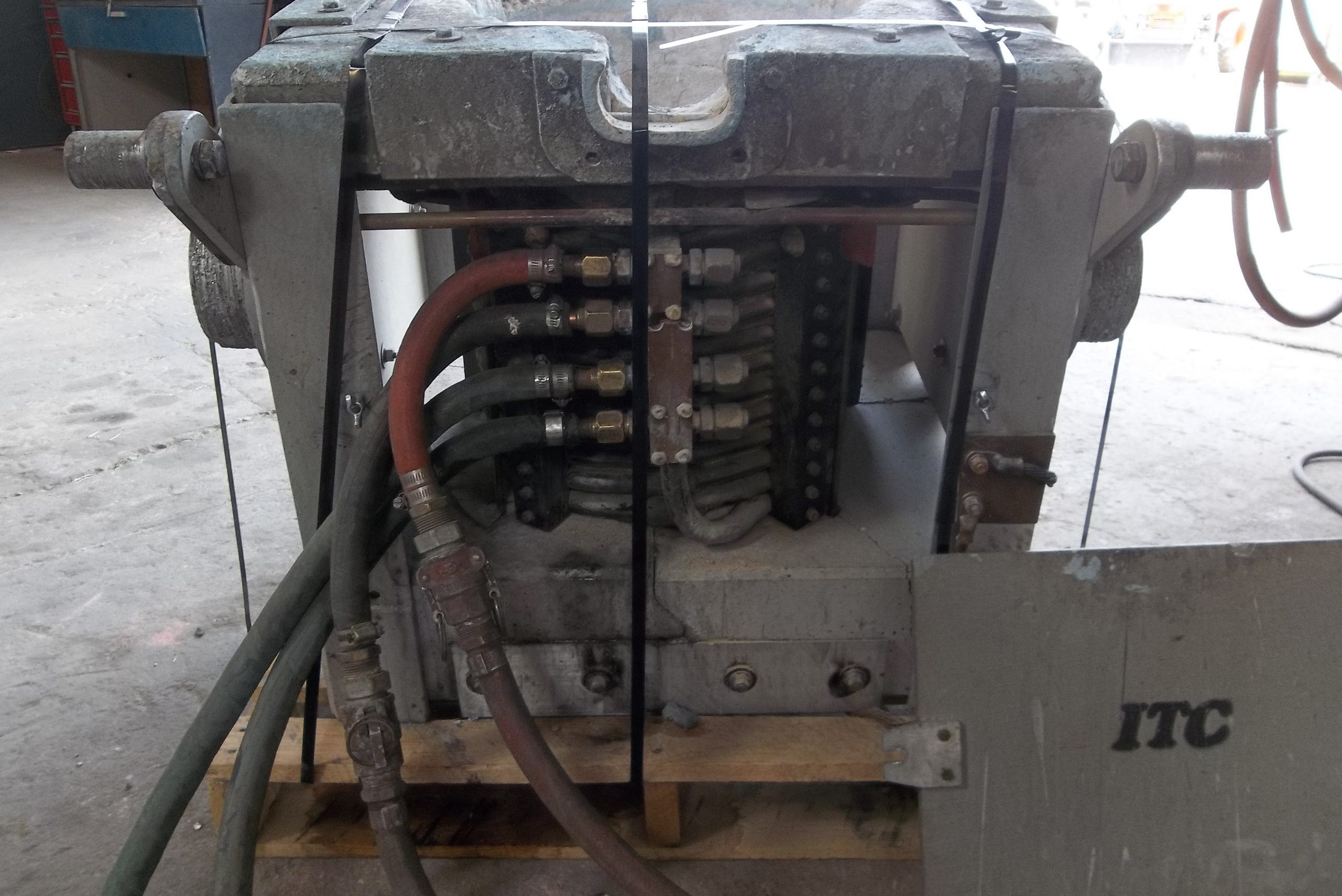 Rebuild of 300lb box furnace and coil-before